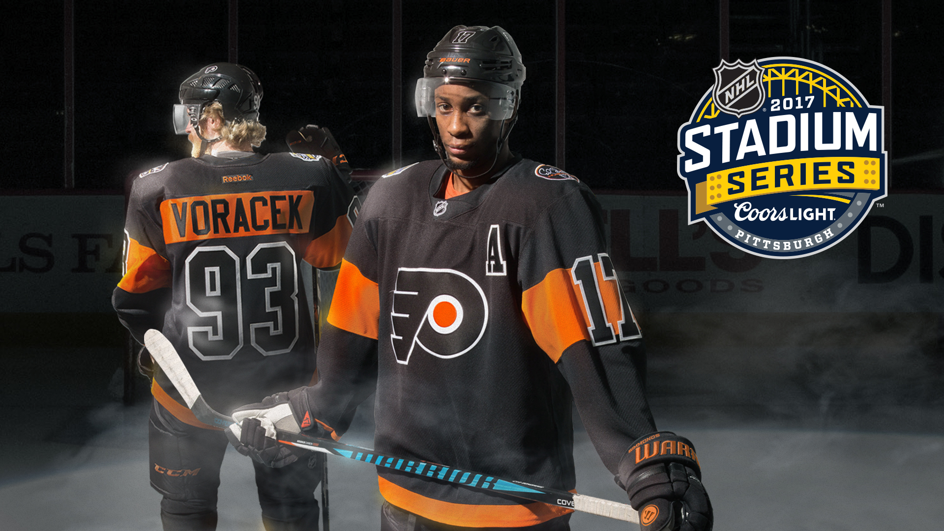 Wayne Simmonds shows off Philadelphia Flyers  Stadium Series jersey ... 17e53882f
